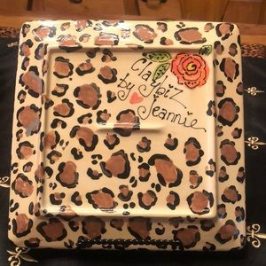 ClaybiZ by Jeannie Kitchen - Whimsical Leopard/Rose Plate Collection!